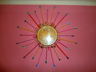 DIY Dekorisite zidni sat decorate wall clock decorar reloj de pared