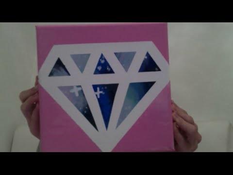 DIY Diamond  Galaxy Canvas Hallyday 6