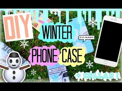 DIY TUMBLR PHONE CASE - WINTER EDITION! (NIKE, JOHN GREEN + MORE) | xoAlaska