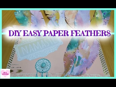 DIY Water Color Paper Feathers & Card Idea : CRAFT WITH ME ♥ I'm A Cool Mom