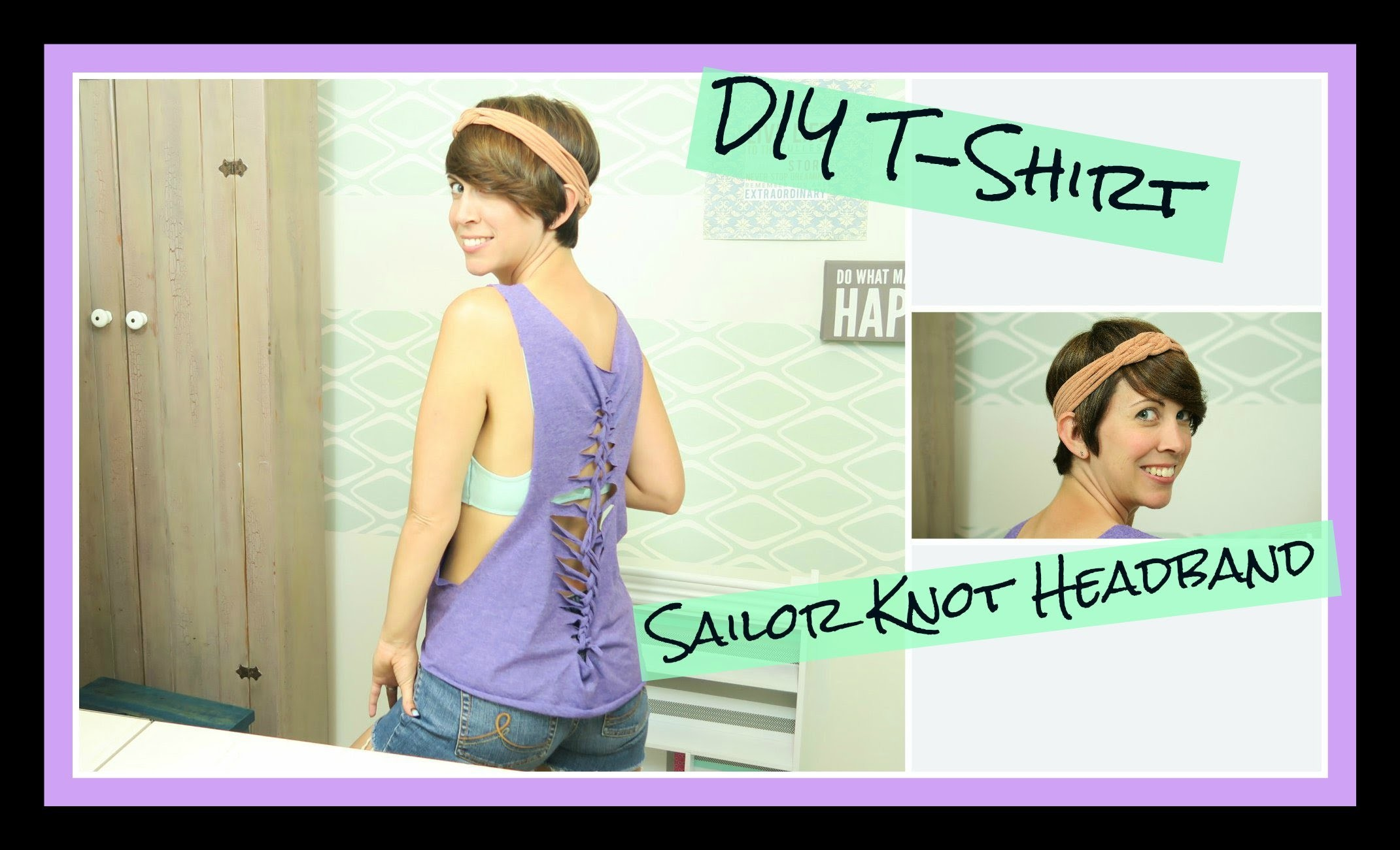 Drunk DIY: T-Shirt, Sailor Knot Headband & OG Wine Cooler