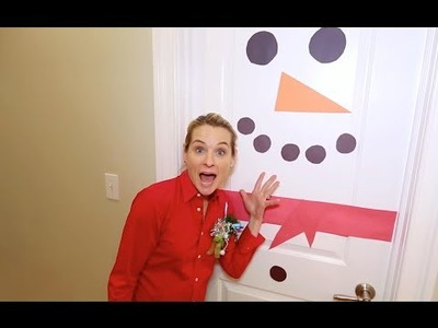Easy DIY Snowman Door with Good Housekeeping's Meaghan Murphy!