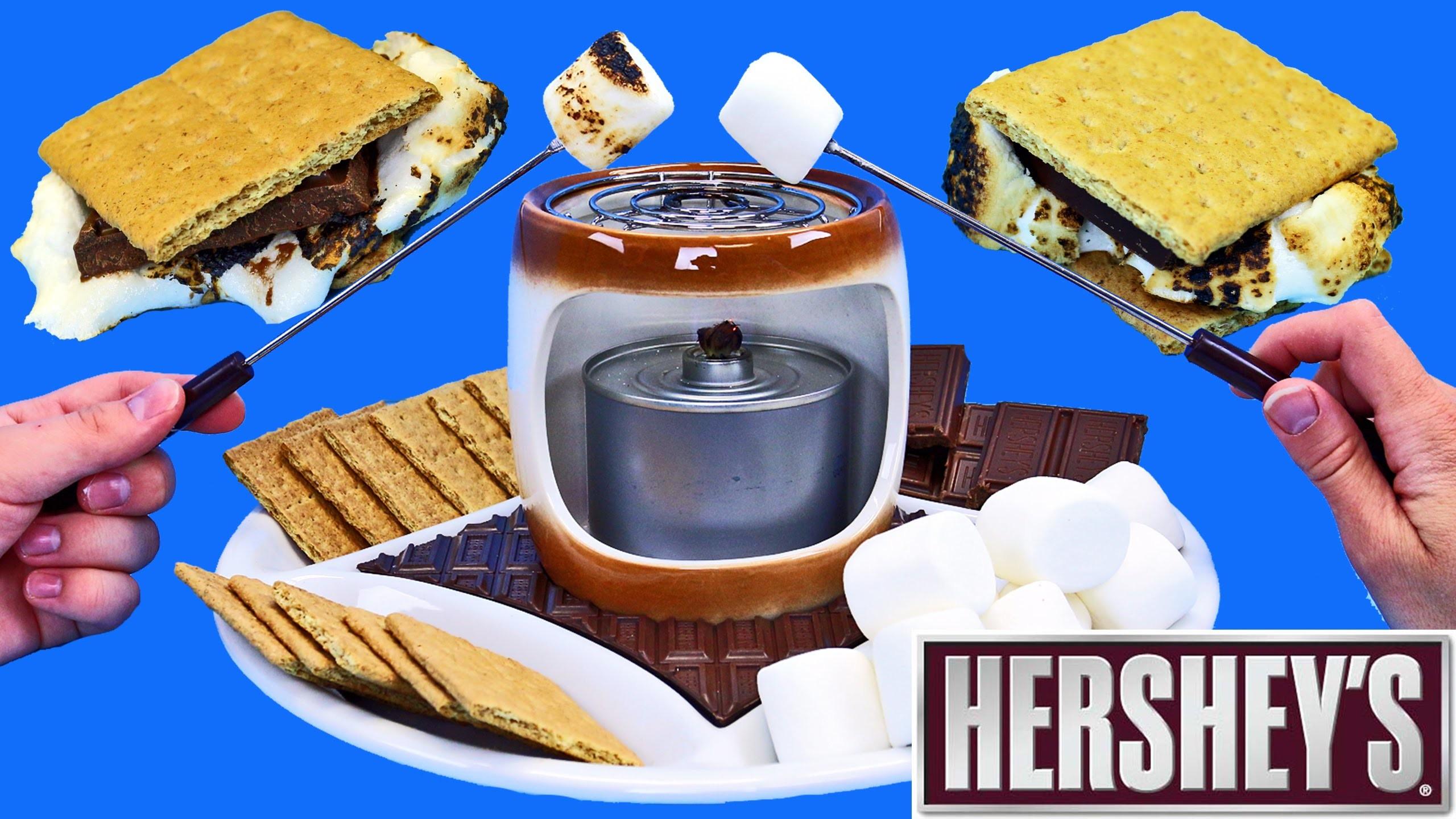 Hershey's Chocolate S'Mores Maker DIY Indoor Smores + DIY Chocolate Candy Dessert by DisneyCarToys