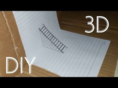 How to draw 3D easy step by step - DIY 3D ladder