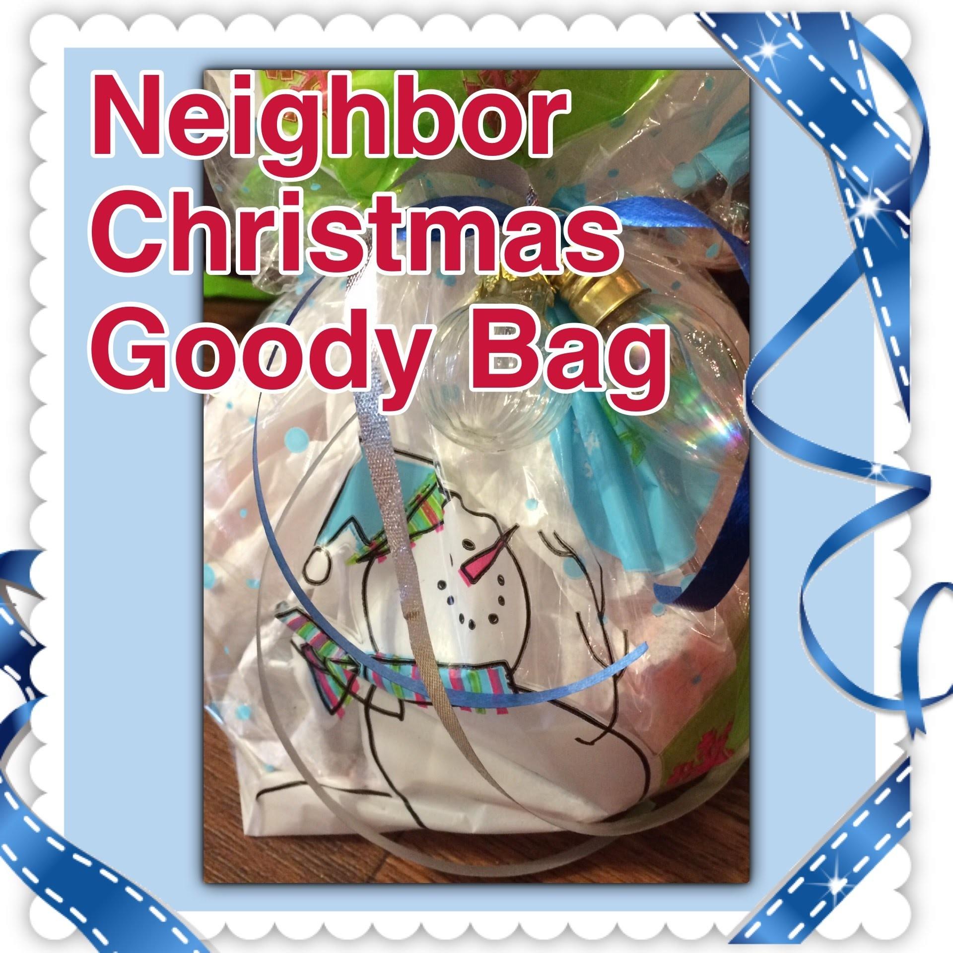 Neighbor Christmas gift bag DIY