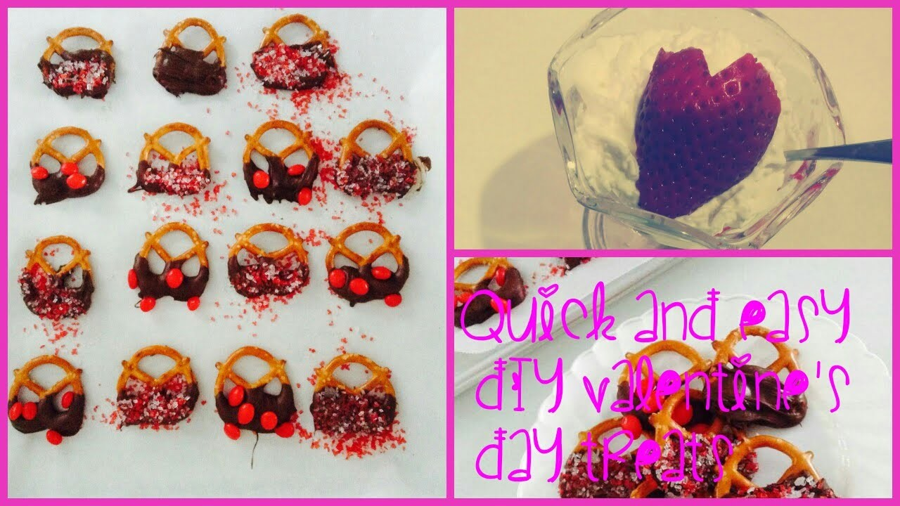Quick and Easy DIY Valentine's Day Treats