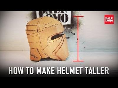 Tips: How to Fix Cardboard Helmet - Add Height | Dali DIY