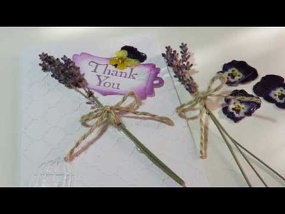 Tutorial Make a Card Using Dried Flowers V#3