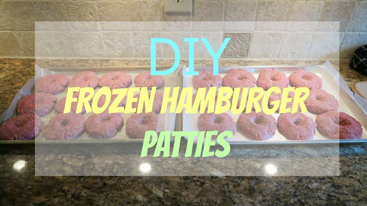 Bulk Freezer Meal: DIY homemade hamburger patties