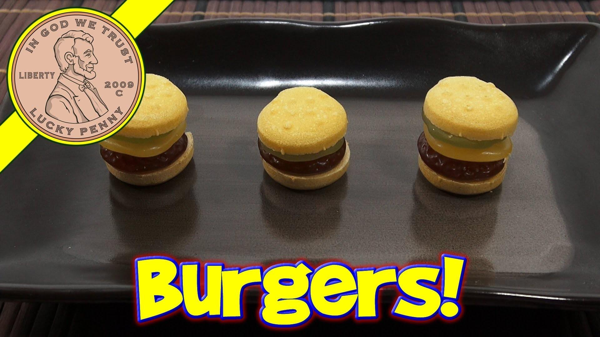 Cheeseburger & Hamburger Gummy DIY Japanese Maker Kit - Meiji Yataiman