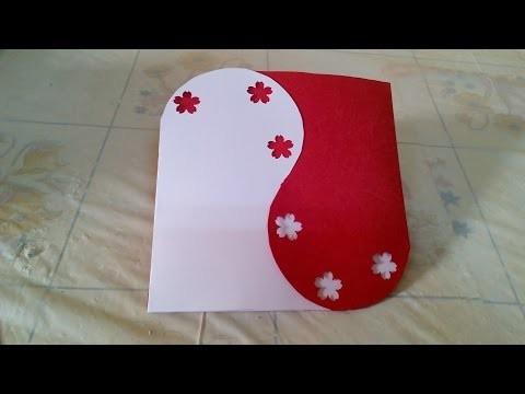 Creative Ideas :How to Make Handmade Valentine's Card - DIY + Tutorial .