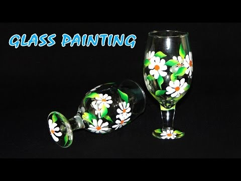 DIY Crafts - How to Paint Beautiful Flowers on Glasses