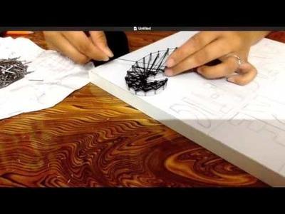 DIY | Moustache Art | Thread & nail work
