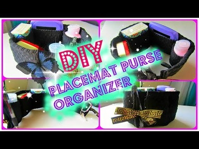DIY Placemat Purse Organizer