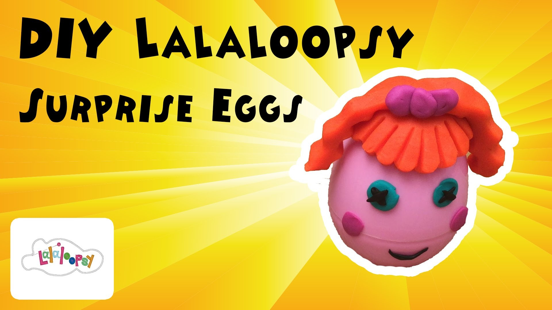 DIY Play doh Lalaloopsy surprise egg, how to make surprise eggs - KidsToysTV
