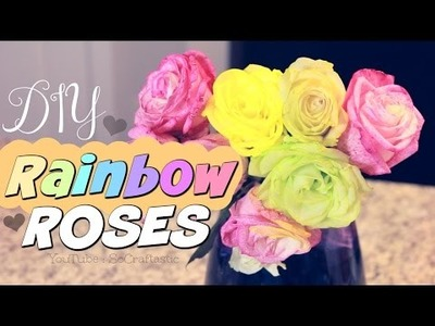 DIY Rainbow Roses. How To Dye Flowers. Pinterest Test