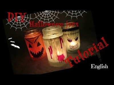 DIY scary jars! How to DECORATE your home at HALLOWEEN 2014, CHEAP and EASY! [SissyloveTv]