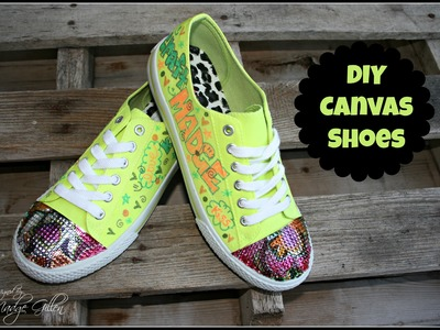 DIY Shoes using Fabric Markers and Bling