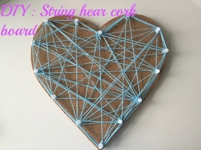DIY string heart cork board ❤️