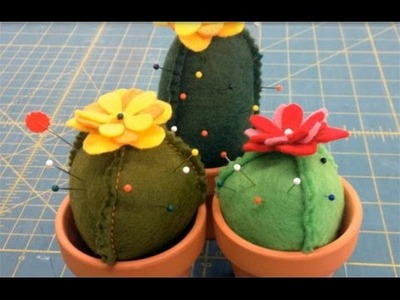 In The Hoop Cactus Pincushion Tutorial