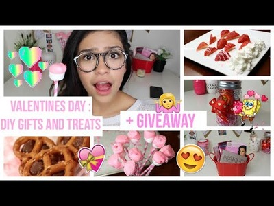 Valentine's Day : DIY GIFTS AND TREATS + GIVEAWAY