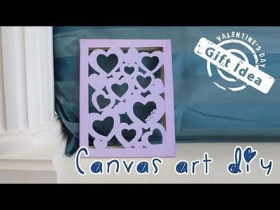 $1 Valentine's Day Gift Idea | Canvas Cut Out Art | Sunny DIY