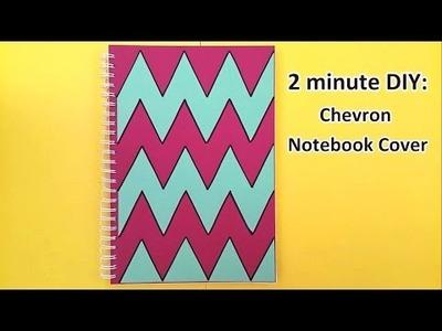Chevron Notebook Cover   2 minute DIY