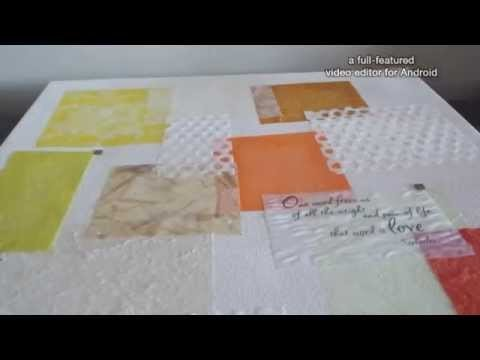 DIY  Collage  Canvas - COwens Crafting