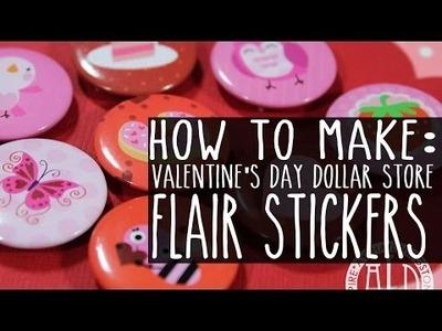 DIY - Dollar Store Flair (Valentine's Day)