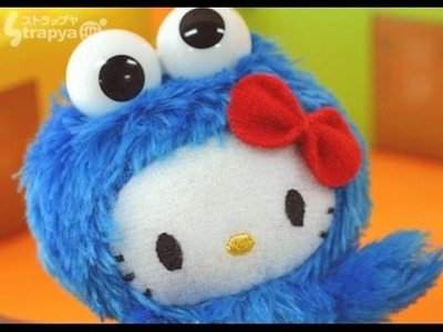 DIY.HELLO KITTY.COOKIE MONSTER-Kitty disfrazada del come galletas