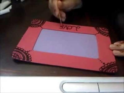 DIY: How to make henna designed Picture frame