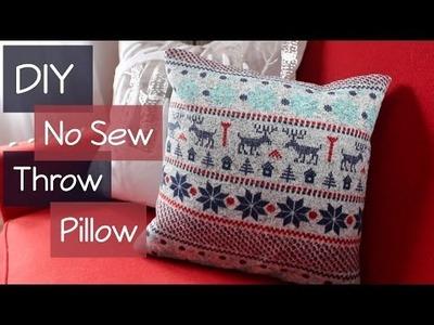 DIY | No Sew Throw Pillow