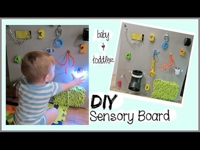 DIY SENSORY BOARD \ BABY & TODDLER LEARNING TOY