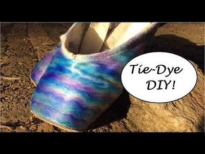 "DIY- ""Tie Dye'' Your Old Ballet Shoes!"