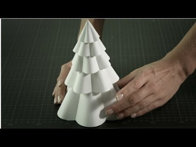 DIY Winter Paper Decoration: Winter Tree Tutorial by Montblanc | Parisian Winter Tale