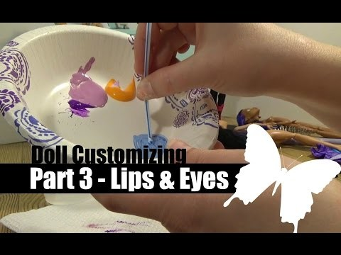 Doll Customizing Part 3 - Lips & Eye Painting | How to DIY | Monster High | Ever After High