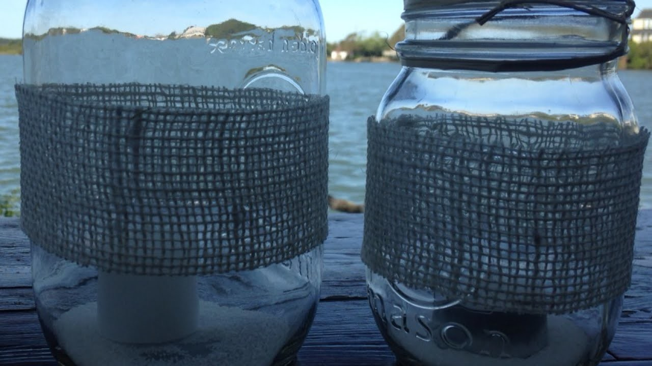 Create Pretty Burlap Mason Jars - DIY Home - Guidecentral
