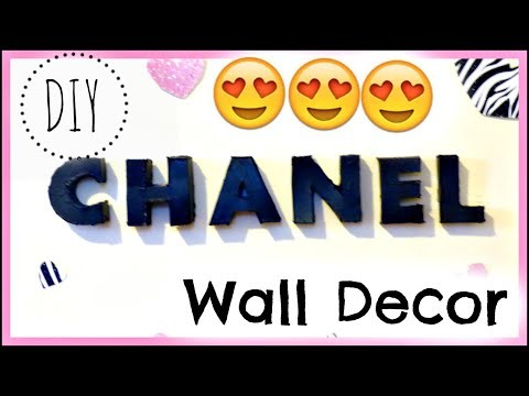 DIY Chanel 3D Letter Room Decor {Out of A Cereal Box}!!!
