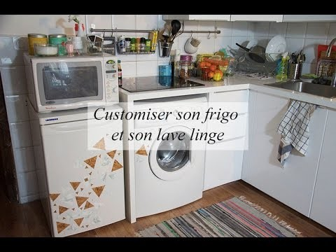 DIY déco : customiser son frigo et son lave linge
