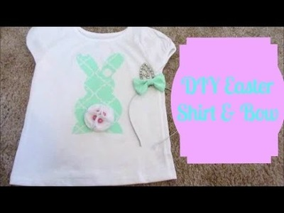 DIY Easter shirt and Bow (VEDA Day 1)