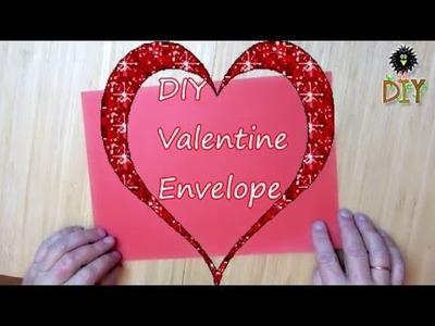 DIY Paper Valentine Envelope - How To Make Origami Envelope For Valentine's Day