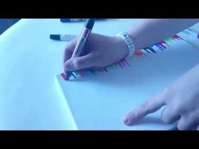 DIY: Watercolor painting (with alcohol) and permenant markers