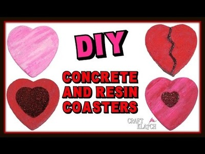 Concrete and Resin Heart Coasters DIY ~ Another Coaster Friday