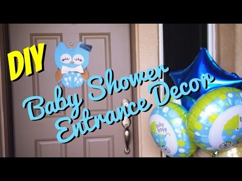 DIY: Baby Shower Entrace Decoration