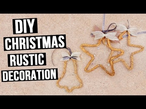 DIY Christmas Craft Ideas -  Rustic Decoration