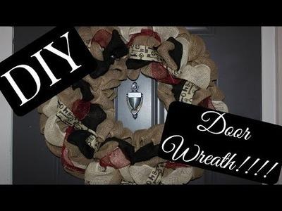 DIY Door Wreath!!