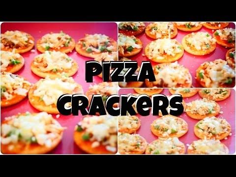 DIY  Pizza Crackers Snack