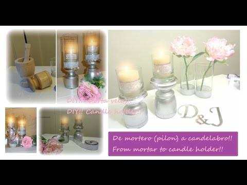 DIY!! Porta velas!!.Candle holder!!