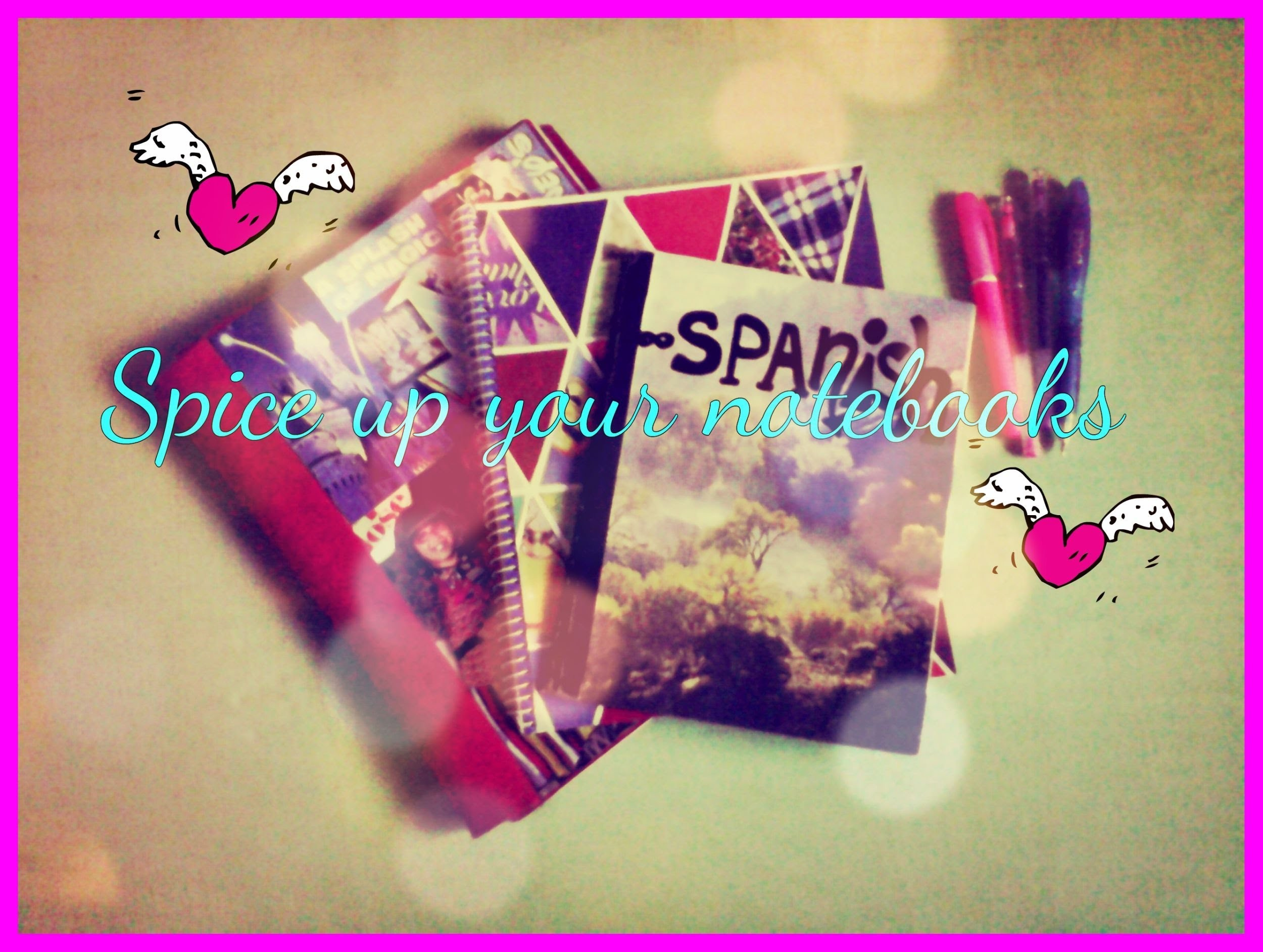 DIY Spice up your notebooks!