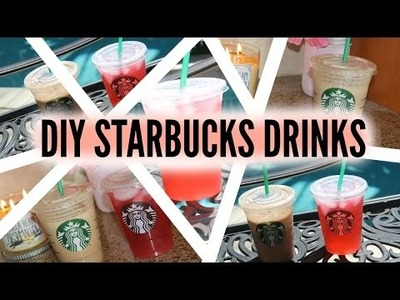 DIY Starbucks Drinks | Passion Tea & Frappuccino
